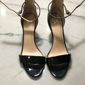 BP Black Patent heels